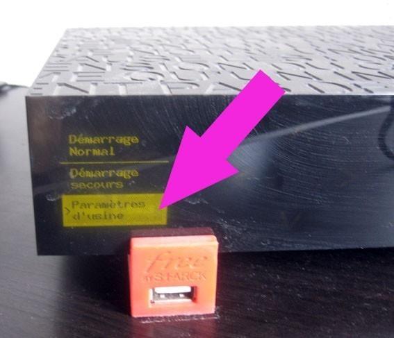 hard reset ou config usine freebox revolution 2