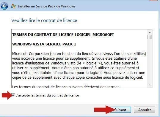 installer pack sp1 vista 7