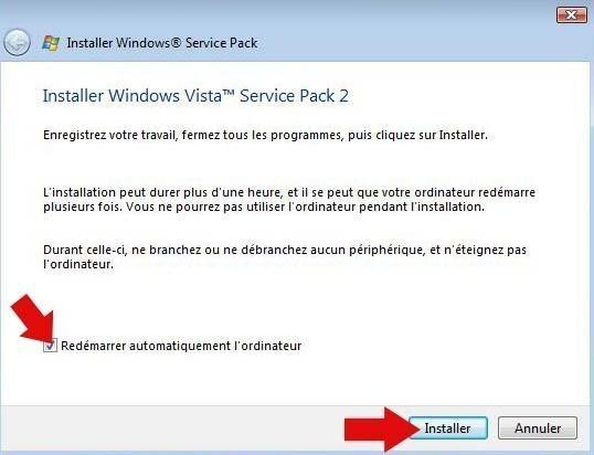 installer pack sp2 vista 8