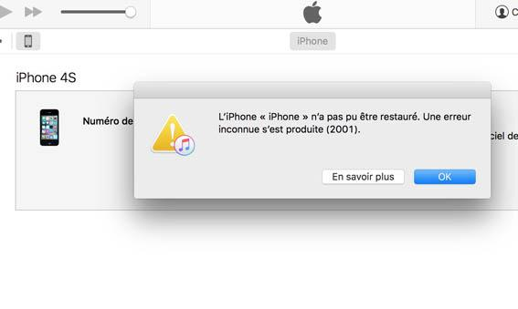 iphone redemarre en boucle pomme 7