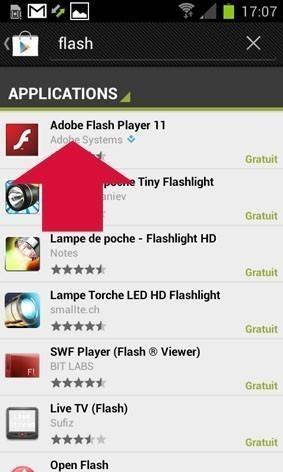 lire des videos ou contenu flash sur android 1