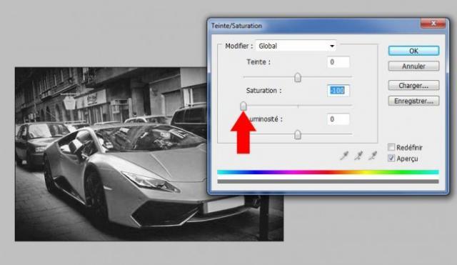 mettre photo en noir et blanc avec photoshop 4