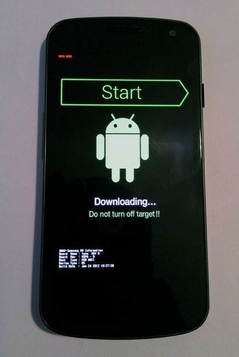 mode download odin sur galaxy nexus 1