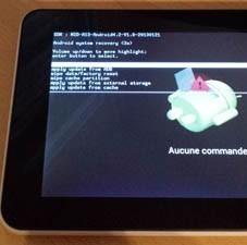 mode recovery pour tablette Klipad smart hp750