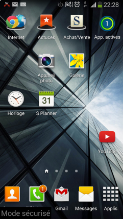 mode securise sur galaxy s4 android 1