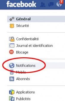 ne plus recevoir de mail facebook 1