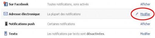 ne plus recevoir de mail facebook 2
