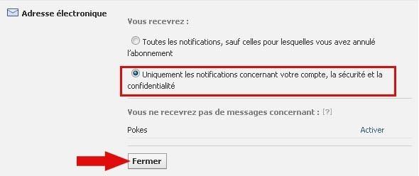 ne plus recevoir de mail facebook 3
