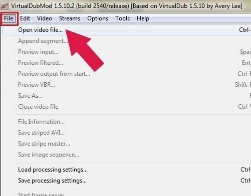 ouvrir mp4 ou mkv avec virtualdubmod 8