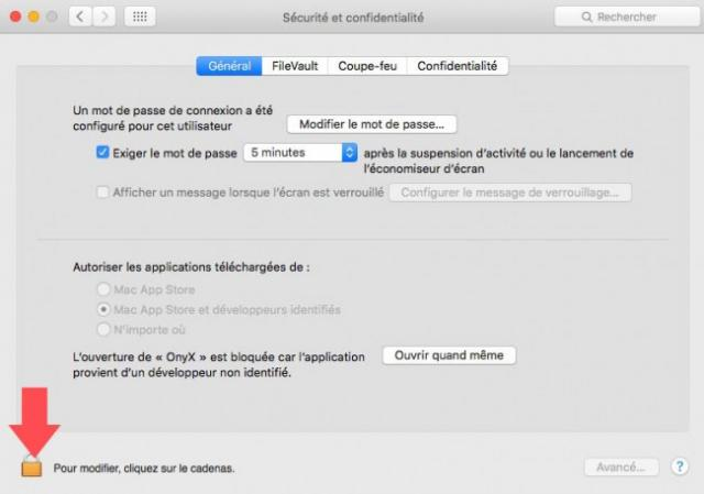 open security pre fe rences for apps mac 3