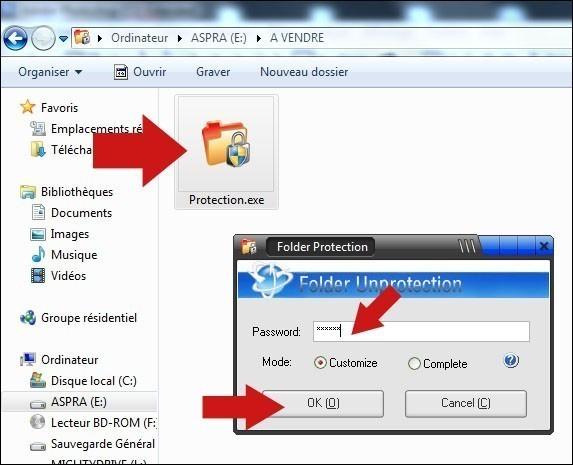 proteger un dossier par mot de passe 6