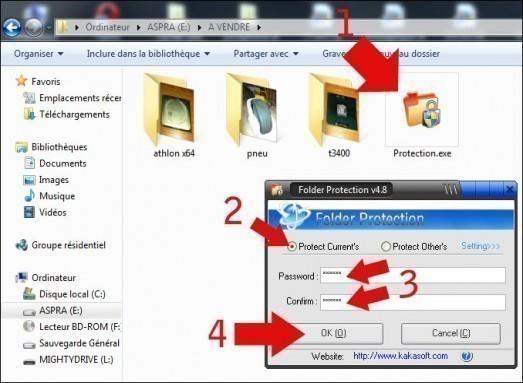 proteger un dossier par mot de passe 2