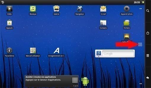 reinitialiser archos 101 internet tablet 1