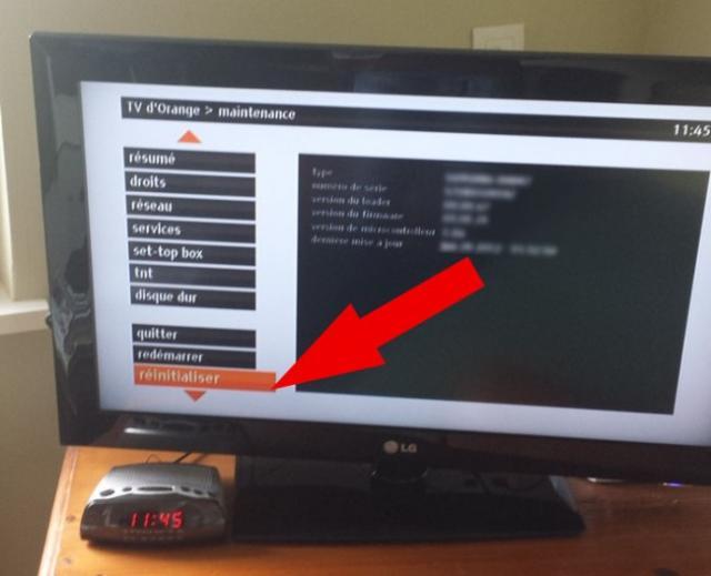 R initialiser d codeur blanc orange - Installation decodeur orange ...