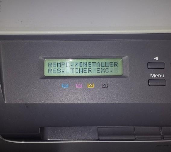 Remplacer installer res toner exc