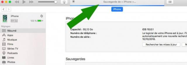 sauvegarder son iphone sur itunes 3