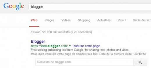 supprimer un blog blogger 1