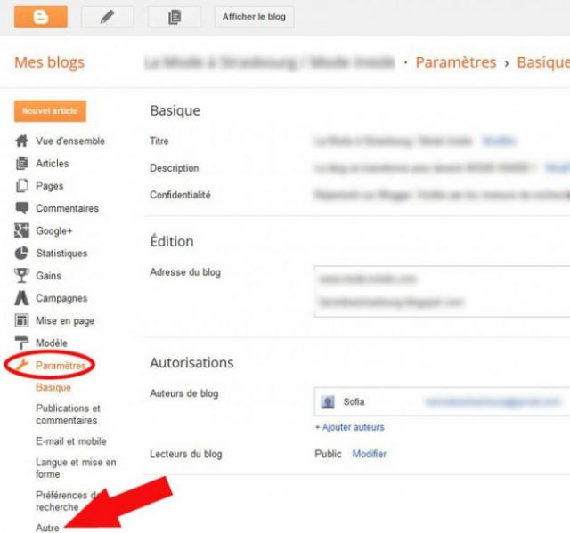 supprimer un blog blogger 4