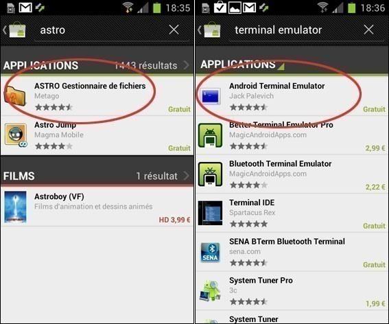 supprimer une application d'origine sur android