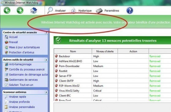 supprimer virus windows internet watchdog 2