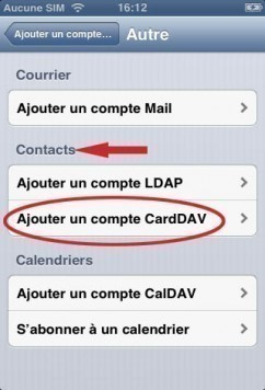 synchroniser ses contacts gmail sur iphone 2