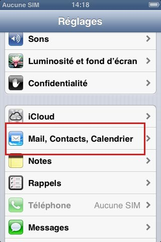 synchroniser ses contacts google avec iphone 1