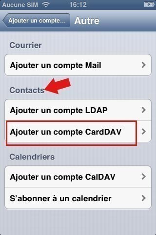 synchroniser ses contacts google avec iphone 4