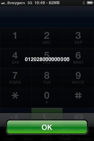 trouver le numero imei 2