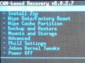 Utilisation du mode recovery android