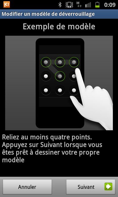 verrouiller l ecran sur android2 3 4 6
