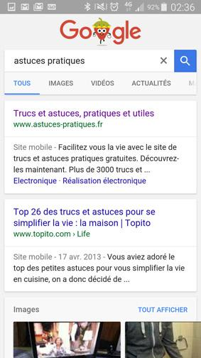 version ordinateur d un site ou page web sur smartphone 12