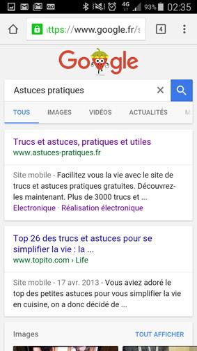 version ordinateur d un site ou page web sur smartphone 7