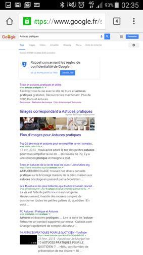 version ordinateur d un site ou page web sur smartphone 10