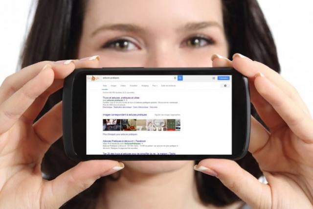 version ordinateur d'un site ou page web sur smartphone