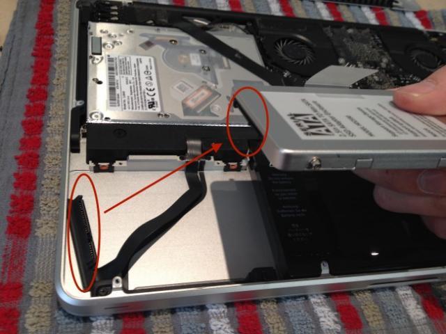 changer le disque dur macbook pro 7