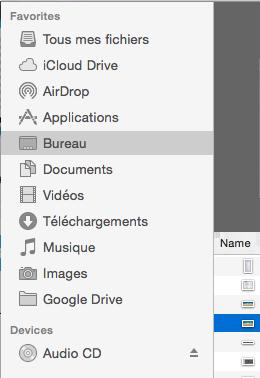 faire apparaitre toutes les icones dans finder 0