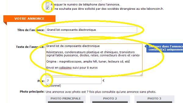 comment poster une annonce sur leboncoin fr
