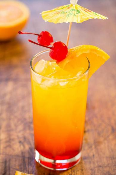 Recette Cocktail - Tequila Sunrise