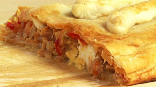 Recette : tarte espagnole (thon, chorizo et poivron)