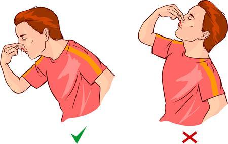 que faire en cas de saignement du nez 1