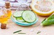 Le concombre pour la peau