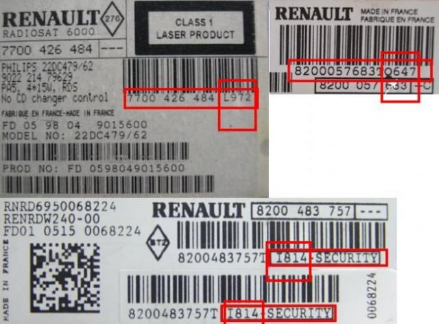 generer code poste ou autoradio renault 3