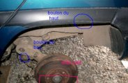 Changement amortisseurs arrière sur Citroën zx break 1.9D