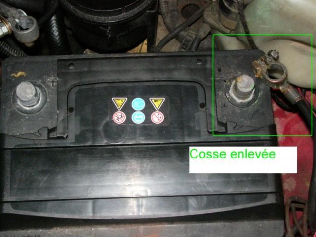 changement de batterie sur opel calibra 2 0i 2