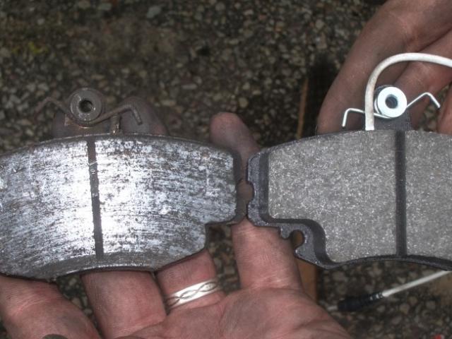 changement des plaquettes de freins avant sur zx 1 9d break 9
