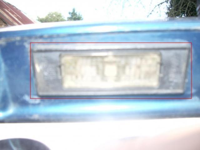 remplacement feux de plaques d immatriculation sur zx 5