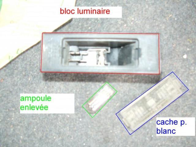 remplacement feux de plaques d immatriculation sur zx 8