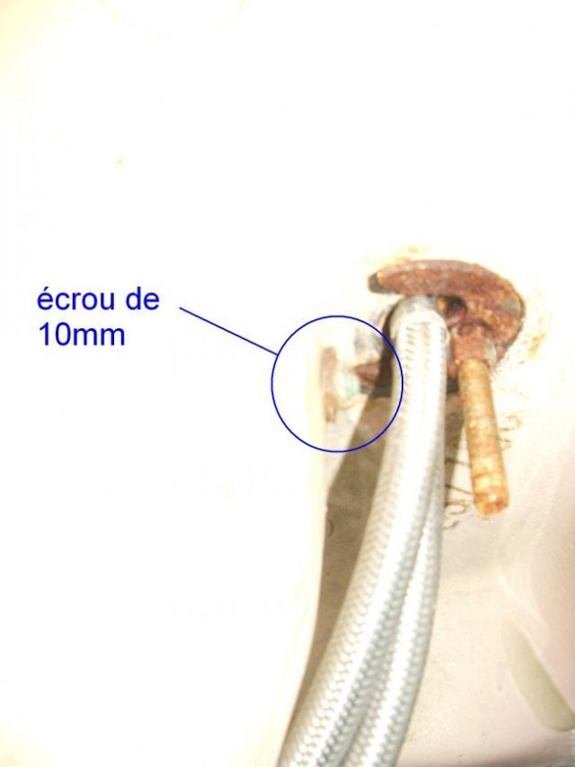 reparer le mecanisme de bonde sur lavabo ancien 3