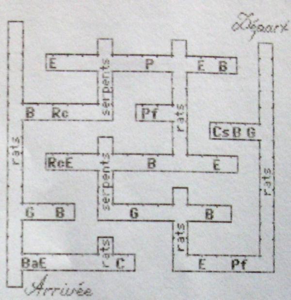 beyond dark castle plan des labyrinthes 1